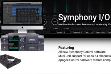 Apogee Introduces Apogee Control For Symphony I/O and Element Interfaces
