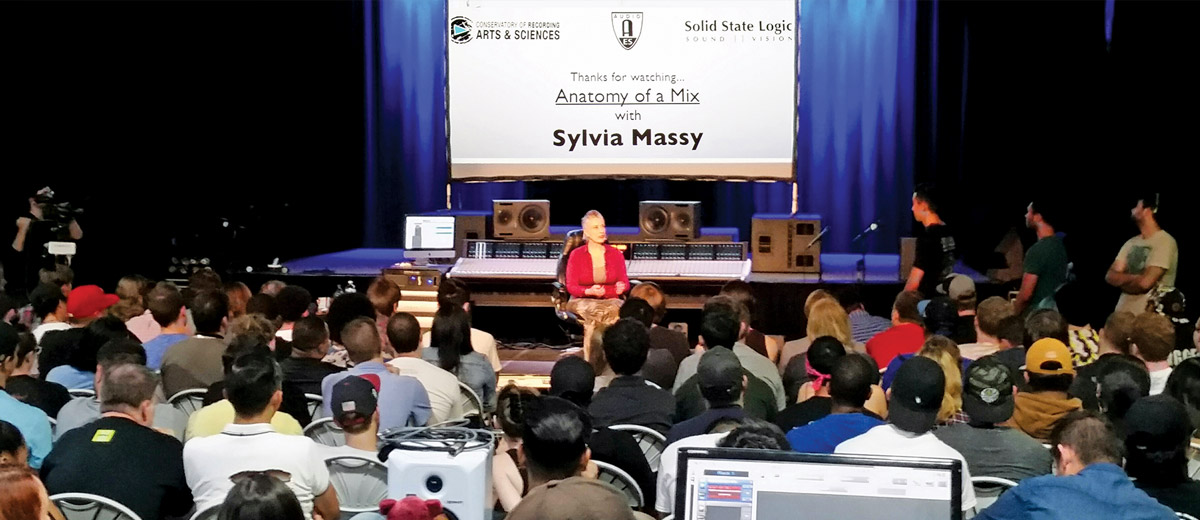 CRAS Partners with Solid State Logic to Host Sylvia Massy