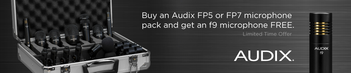 Audix Giveaway – Free F9 with purchase of FP5 or FP7 drum mic pack