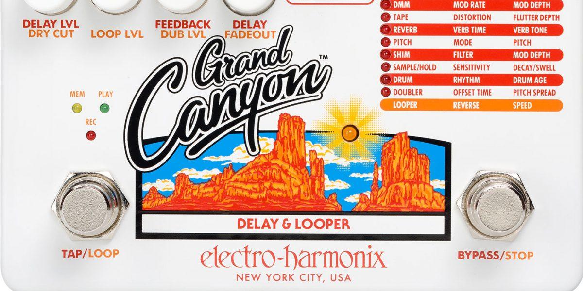 Electro-Harmonix lanza nuevo pedal de delay Grand Canyon