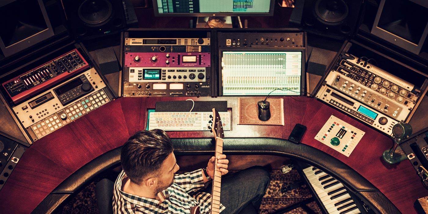 Flujo de señal del estudio de grabación DAW