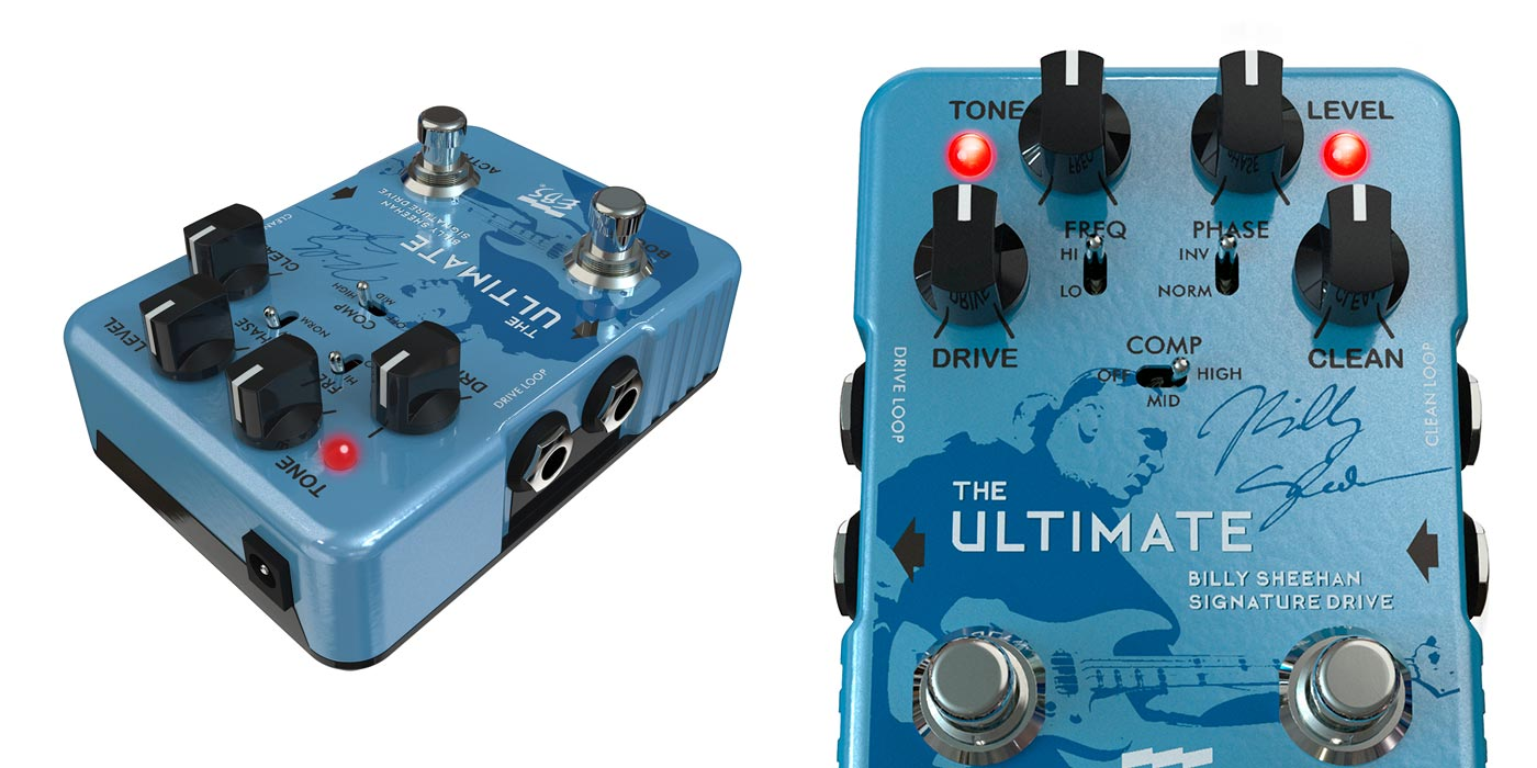 Billy Sheehan Ultimate Signature Drive de EBS, nuevo pedal para bajistas