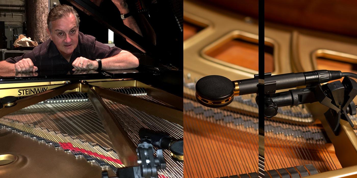 Los micrófonos Audix scx25aps para piano utilizados por ingeniero ganador de Emmy